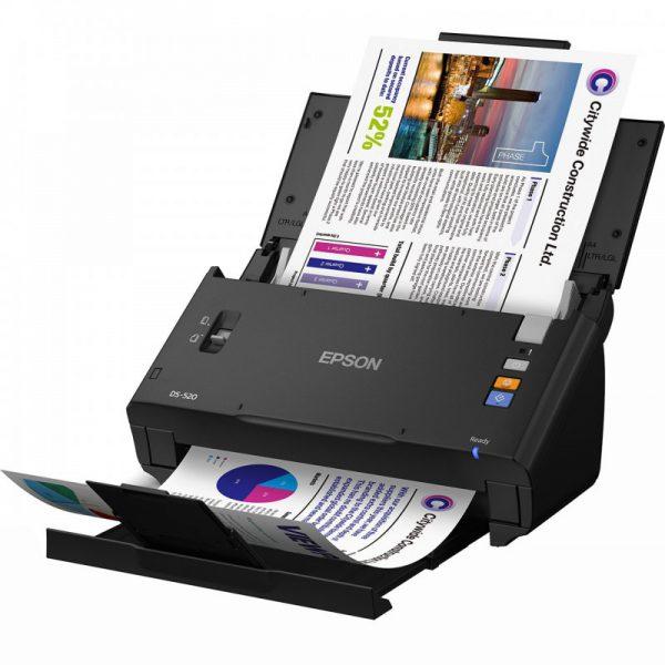 اسکنر اسناد اپسون مدل WorkForce DS-520 EPSON WorkForce DS-520 Color Document Scanner