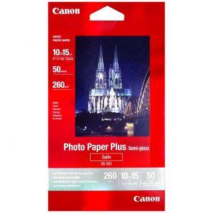 کاغذ چاپ عکس نیمه گلاسه کانن مدل AC001 سایز ۱۰X15 سانتی متر بسته ۵۰ عددی