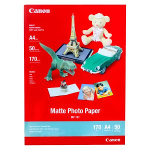 کاغذ چاپ عکس گلاسه کانن مدل MP-101 سایز A4 بسته ۵۰ عددی