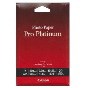 کاغذ چاپ عکس کانن مدل pro platinum سایز ۱۰*۱۵سانتیمتر  بسته ۲۰ عددی